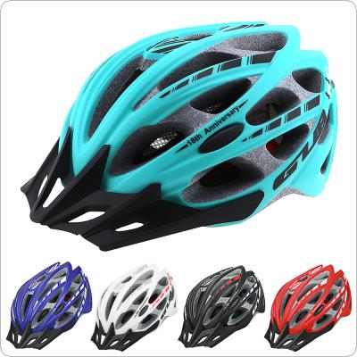 GUB 57-61cm Integrally-molded Ultralight Bicycle Helmet with Tail Reflective Tape and 30 Air Vents for Cycling
