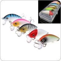 5pcs/lot Crank Fishing Lures 5 Colors 5cm 3.7g Crankbait Simulation Bait Fishing Gear with Box