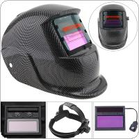 Blue Square Grid Solar Power Auto Darkening Arc TIG MIG Grinding Welding Helmet Welders Mask