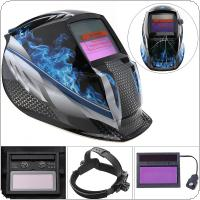 Blue Fire Adjust Solar Auto Darkening TIG MIG Grinding Welding Helmets / Face Mask / Electric Welding Mask