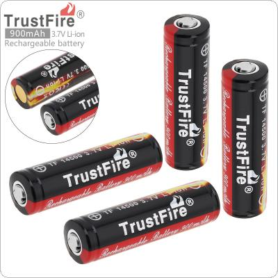 TrustFire 4pcs 3.7V 900mAh 14500 Li-ion Rechargeable Battery with Protected PCB for LED Flashlights / Headlamps