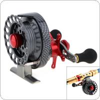 4+1BB 3.5:1 Gear Ratio Fly Fishing Reel Left Right Hand 65mm Former Raft Fishing Wheel with High Foot
