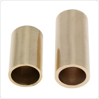2pcs Brass Guitar Slide 40mm & 60mm Steel String Guitarra Smooth Edge Slider