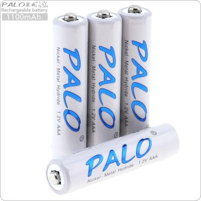 PALO 4pcs 1.2V AAA 1100mAh Ni-MH Rechargeable Battery with Safety Relief Valve for Wireless Mouse / Toy / Alarm / Clock / Wireless Mouse / Game Handle