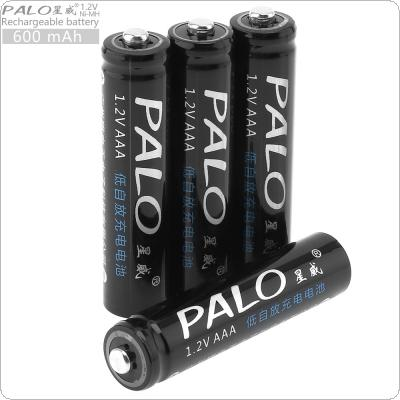 PALO 4pcs 1.2V AAA 600mAh Ni-MH Rechargeable Battery with Safety Relief Valve for Remote Control / Toy / Alarm / Clock / Wireless Mouse / Game Handle