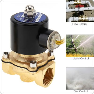 "3/4"" AC 110V / 220V Electric Solenoid Valve Pneumatic Valve Brass Body for Water / Oil / Gas"