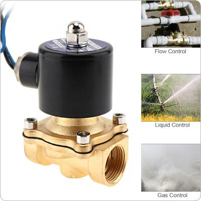 "3/4"" DC 24V Electric Solenoid Valve Pneumatic Valve Brass Body for Water / Oil / Gas"