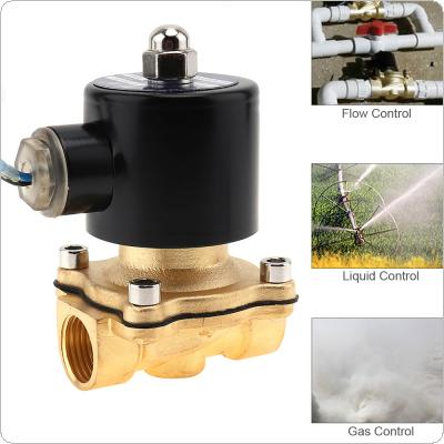 "1/2"" DC 24V Electric Solenoid Valve Pneumatic Valve Brass Body for Water / Oil / Gas"