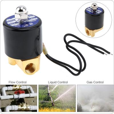 "1/4"" DC 24V Electric Solenoid Valve Pneumatic Valve Brass Body for Water / Oil / Gas"