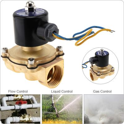 "1"" DC 12V Electric Solenoid Valve Pneumatic Valve Brass Body for Water / Oil / Gas"