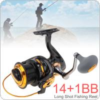 8000 Series 12+1BB 4.6:1 Fishing Reel Trolling Long Shot Casting Big Sea Spinning Wheel with Full Metal CNC Rocker Arm