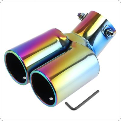 1 to 2 All Enamel Double Exhaust Tail Throat Stainless Steel Muffler Automobile Exhaust Pipe