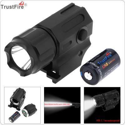 TrustFire Waterproof G03 XP-G R5 LED 210LM Tactical Flashlight Military Weapon Lights with 2 Modes Light + CR2 3V 750mAh Lithium Battery