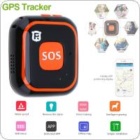 RF-V28 Mini WiFi GPS LBS AGPS Tracker Locator with Class 12 TCP/IP SOS Communicator for Pet Kids Elderly Personal Lifetime Web APP Tracking Two-way Talk
