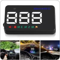 Universal A5 3.5 Inch Car Head Up Display Windshield Projector Speedometer Over Speed Warning GPS Satellite 2 Display Mode