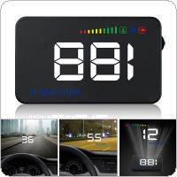 A500 3.5 Inch Car HUD Head Up Display Speedometer OBD2 II EUOBD Auto Projector Parameter Display with Over Speed Warning function