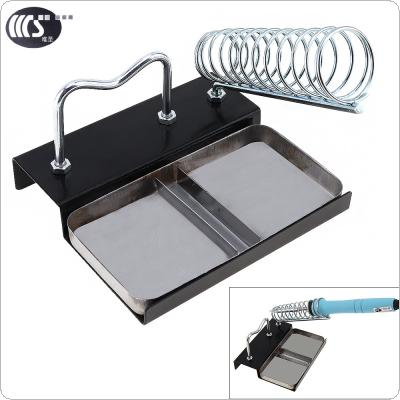 WS-A4 Durable Soldering Iron Support with Rectangle Base and Round Holder for Soldering Iron and Solder Wire