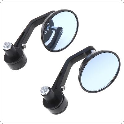 "2pcs General Aluminum 7 / 8 "" Round Rod End Modified Rear-view Mirror for Motorcycle"