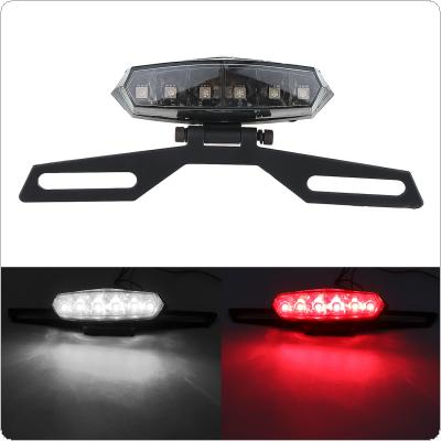 12V 0.3A Mini 6 LED Can Adjust Angle Highlight Brake Tail Lamp for Motorcycle