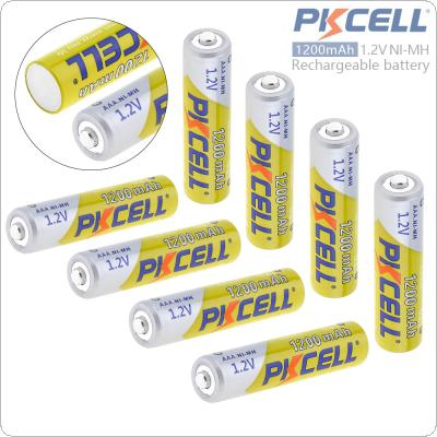 Pkcell 8pcs 1.2V AAA 1200mAh Ni-Mh Rechargeable Batteries with Safety Relief Valve for Alarm / Clock / Wireless Mouse / Game Handle / Toy / Remote Control