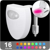 Smart 5V USB Charge 8 Color PIR Motion Sensor Bathroom Toilet Nightlight Seat Sensor Lamp Body Motion Activated with On / Off