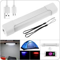 Smart Multifunction 5V USB Charge LED Night Light Emergency Lamp with 5 Modes Light Support Portable Power Function for Outdoor Camping / Desk Closet