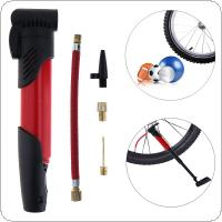 Mini Portable Bicycle Tire Air Pump Inflator with Pump Inflator Extension Tube for Bicycle / Ball