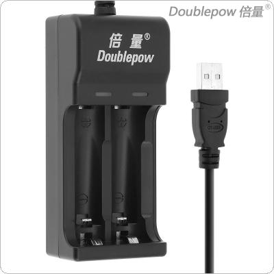 Doublepow 2 Slots Quick Intelligent USB Charger with LED Indicator for AA / AAA / Ni-MH / Ni-CD Battery