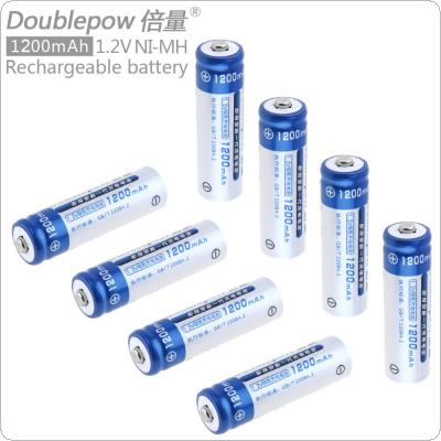 Doublepow 8pcs 1.2V 1200mAh Ni-CD AA Battery  Rechargeable LSD Batteries with 1200 Cycle for Toys / Digital Camera / MP4