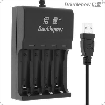 Doublepow 4 Slots Quick Intelligent USB Charger with LED Indicator for AA / AAA / Ni-MH / Ni-CD Battery