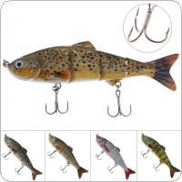 12cm 16.8g 4 Segments Artificial Fishing Lure with Hard Structure and 2 Hooks for Ocean Boat Fishing / Ocean Beach Fishing