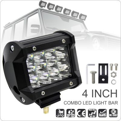 4 Inch 36W 5500LM Modified Car Top LED Light with Three Rows light Bars for Off-road Car / Pickup / Wagon