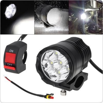 12V 60W 10000LM High Power Spotlight Headlight with 6 LED CREE Lamp Beads for Motorbike