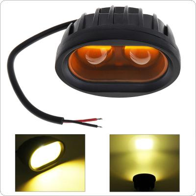 12V 20W 2000LM Off-road Motorcycle LED Work Lamp 2x 4D Convex Lens for SUV / Motorbike