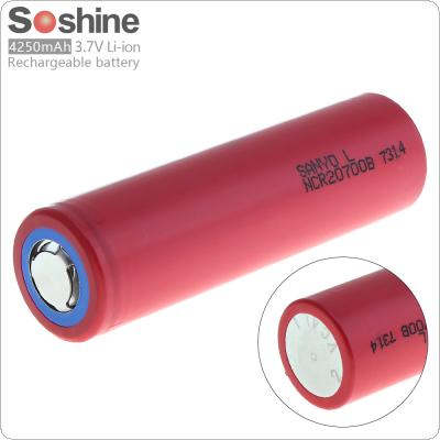 Soshine 18650 NCR20700B 4250mAh 3.7V Li-ion Rechargeable Battery with Safety Relief Valve for LED Flashlight / Headlamp / Bicycle Lamp