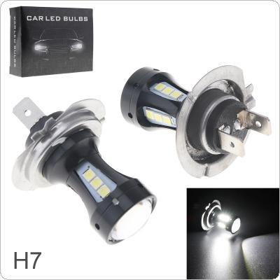 2pcs 18W 950LM H7 High Power 18 x 3030 SMD LED Chips 6500K White Lights Foglight for Cars