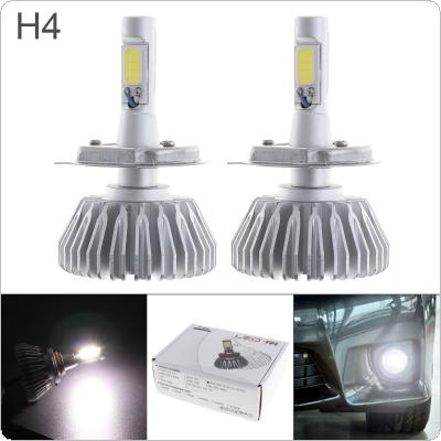 2pcs All In One H4 12V 40W LED Headlight 6000LM White 6000K Conversion Bulb Vehicle DRL Light for Cars