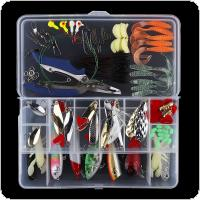108pcs/lot Artificial Fishing Lure Kit Include Hard Lure Minnow / Popper Soft Bait with Luminous Lead Hooks Box for Sea / Freshwater Fishing