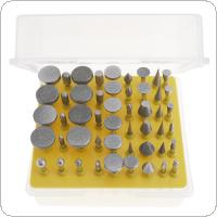50pcs Diamond Coated Grinding Grinder Head Glass Burr with Plastic Box for Rotary Tools