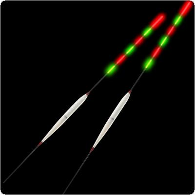 2pcs Bale Fir Bobber Buoyage Marine Electronic Vertical Night Fishing Float with 3 Head Luminous and Two Battery for Taiwan / Boat Fishing