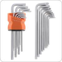9pcs Hand Medium Length Plum Blossom Inner Hexagon Screwdriver with Star Wrench for Repairing
