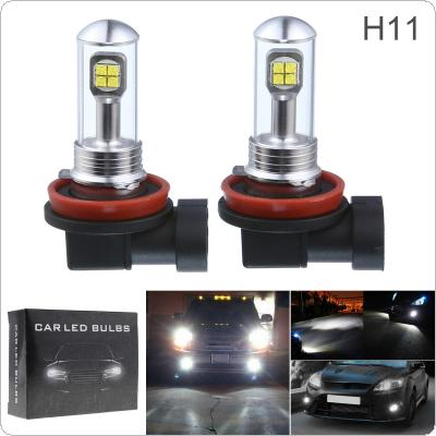 2pcs H11 40W LED Car Fog Light Bulbs Daytime Driving Lamp DRL 6000K 1500LM Led Car Headlights