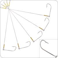 5pcs 27cm Steel Fishing Hooks Detachable Hook Fishing Tools with All Metal for Saltwater Fishing