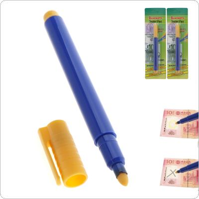 2pcs Plastic Material Banknotes Money Checker with Portable Blue Pen for Checking Fake Money