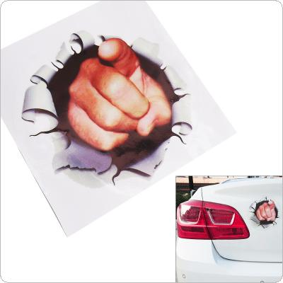 17CM 3D Stereoscopic Car Styling Creative Fist Point at You Pattern Car Stickers Funny Accessories for Cars
