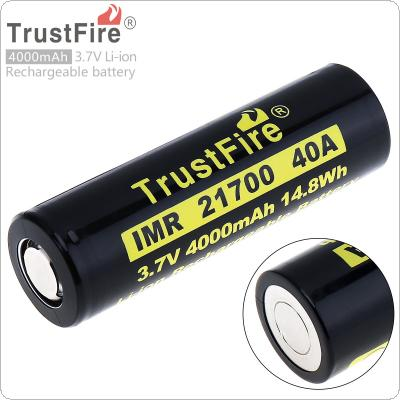 TrustFire 21700 3.7V 40A 4000mAh 14.8W Li-ion Rechargeable Battery with Protected PCB for Electric Tool / Headlamp / Bicycle Lamp