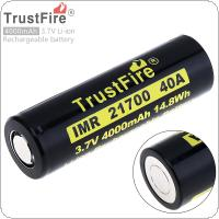TrustFire 21700 3.7V 40A 4000mAh 14.8W Li-ion Rechargeable Battery with Safety Relief Valve for Electric Tool / Headlamp / Bicycle Lamp