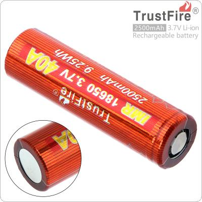 TrustFire 18650 3.7V 40A 2500mAh 9.25W Li-ion Rechargeable Battery with Safety Relief Valve for E-Cigarette / Small Fan / Headlamp