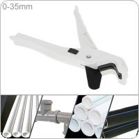 9 Inch Aluminum Alloy PVC / PPR Tube Cutter Scissors with Fixed Bracket and Switch for Plastic Pipe / Other Material Cutting