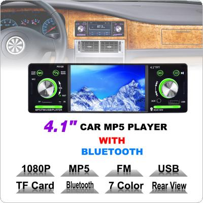 4.1 Inch 1 Din HD Car Stereo Radio Bluetooth MP3 MP5 Player Support USB / FM / TF / AUX with Steering Wheel Remote Control